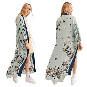 Free People X all tous Butterfly Kisses Kimono
